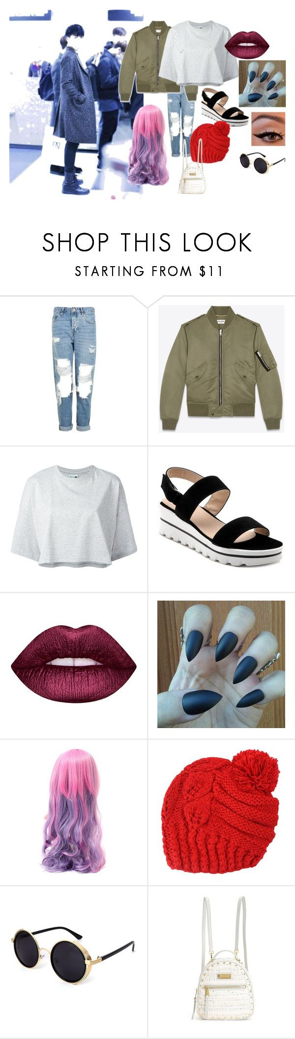 """June June"" by mandalinaqitrydewi on Polyvore featuring Topshop, Yves Saint Laurent, Puma, Lime Crime and Juicy Couture"
