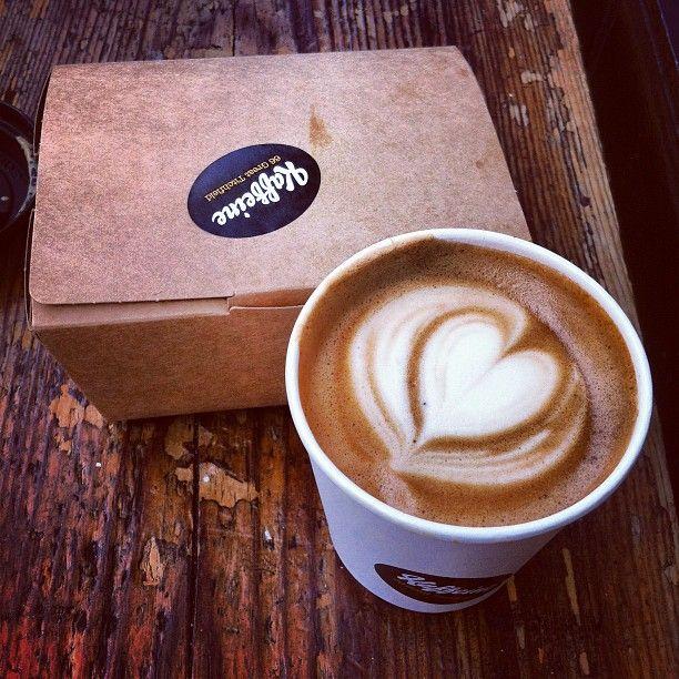 Kaffeine in #london - @buzzispace #100design - A popular coffee destination in central london.