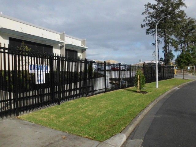 Corporate office security fencing -