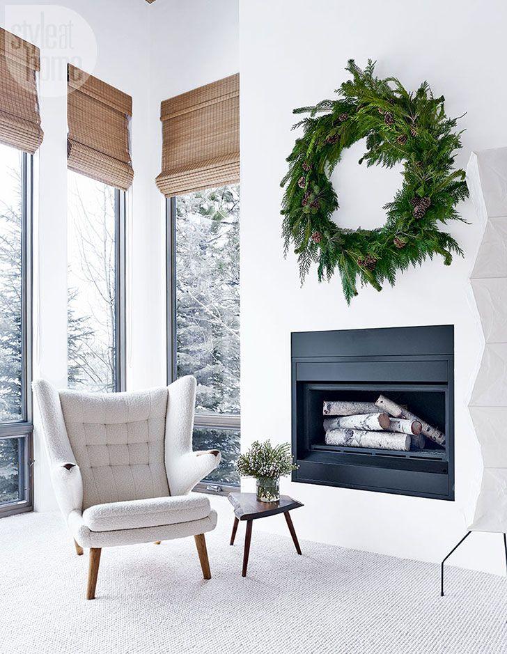 Как выглядит Рождество знаменитости в горах | Пуфик - блог о дизайне интерьера