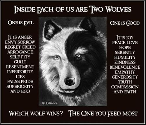 I just like this wolf - and the truth of the story