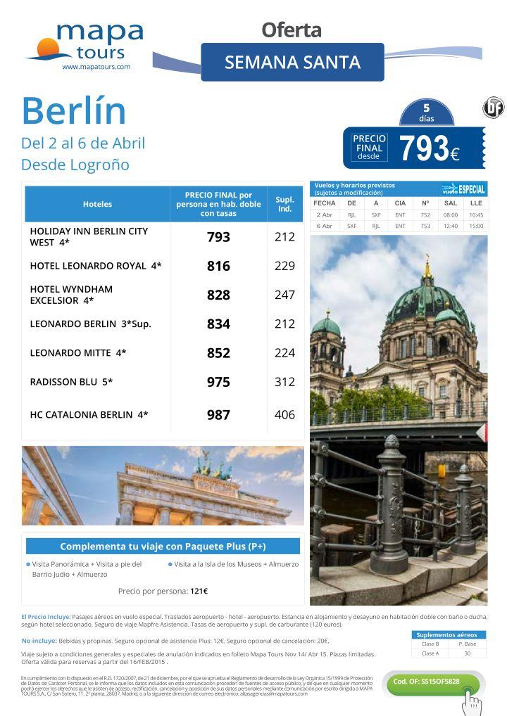 Berlín Semana Santa salida Logroño **Precio Final desde 793** ultimo minuto - http://zocotours.com/berlin-semana-santa-salida-logrono-precio-final-desde-793-ultimo-minuto-4/