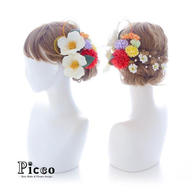 Gallery 618 . 【 成人式 #髪飾り 】 . #Picco #オーダーメイド髪飾り #振袖 #成人式 . 気品ある白の椿をメインに、振袖柄からセレクトしたカラーのマムと小花で盛り付けました❤️✨ サイドの水引飾りと、バックのパールと小花のコンビが素敵な話スタイル仕上げです . #椿 #水引 #大人可愛い #モダン #成人式ヘア . デザイナー @mkmk1109 . . . #ヘッドパーツ #ヘッドドレス #花飾り #造花 #着物 #かすみ草 #和装 #袴 #個性的 #成人式フォト #成人式前撮り #卒業式 #おしゃれ #小紋 #和装髪型 #和装小物 #和モダン #成人式小物 #japanesehairstyle #cool