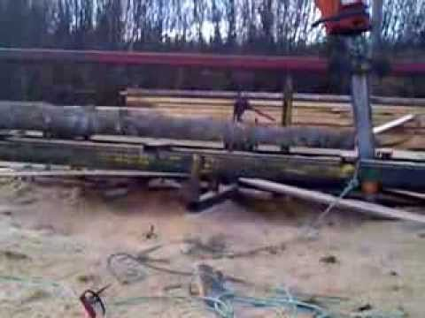 Using a chainsaw to Make wood using a chainsaw