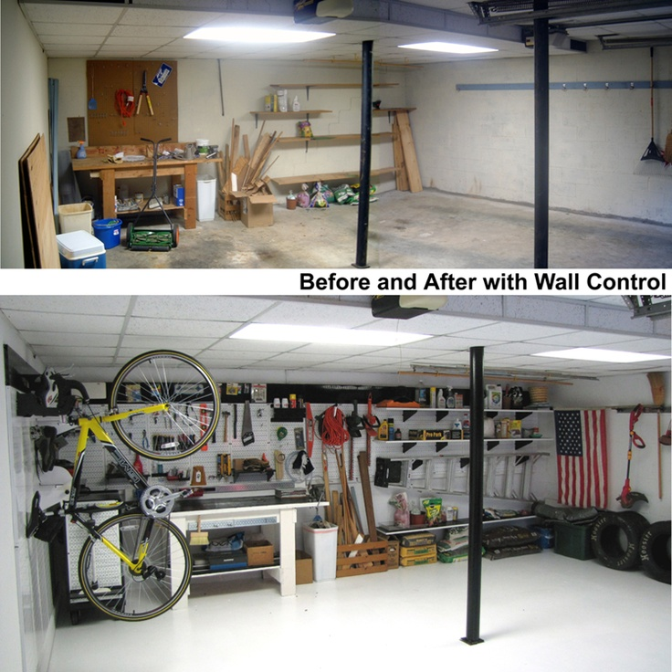 Ohh to have a nicely organized garage garage pegboard for Garage before and after photos