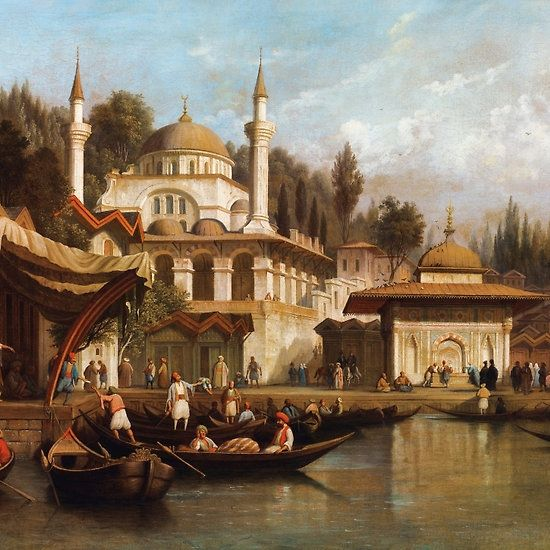 AUGUST FINKE ; MOSQUE MIHRIMAH SULTAN IN ISTANBUL