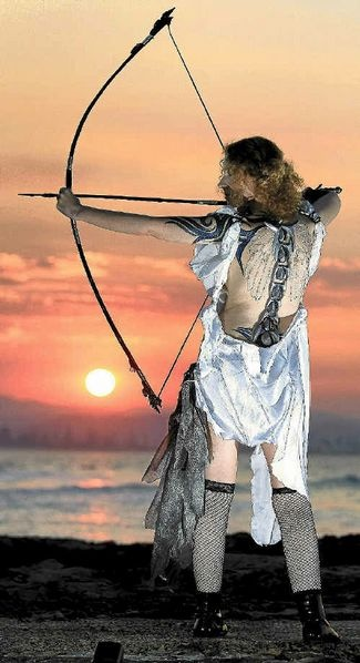 A WARRIOR angel wowed Swell Sculpture Festival-goers during its final weekend.