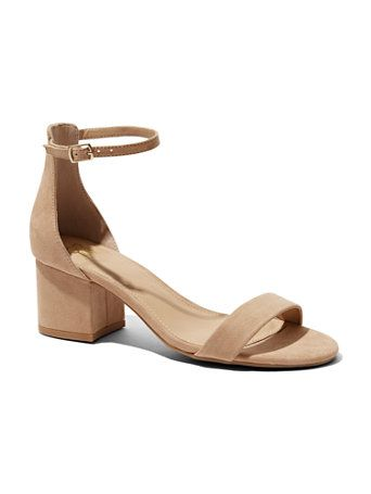 4041351eca0 Shop Block-Heel Faux-Suede Sandal. Find your perfect size online at the best  price at New York   Company.