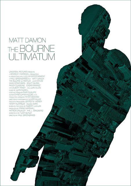The Bourne Ultimatum (2007) - Alternative Movie Poster by Owain Wilson ~ #alternativemovieposter #owainwilson