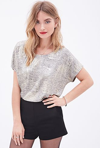 Metallic Batwing Top | FOREVER 21 - 2000100123