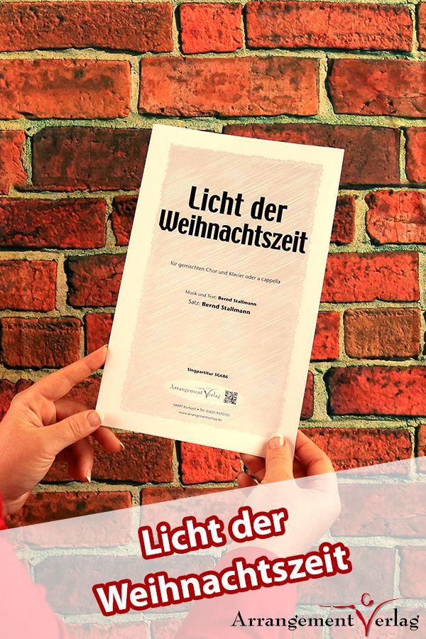 Licht der Weihnachtszeit für gemischten Chor ✓ Modernes ...