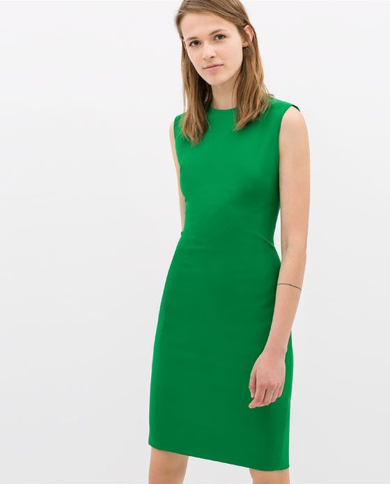 PLEATED SHIFT DRESS from Zara