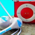 Waterproof ipod shuffle and headphones - perfect for unicycling and running in the rain... and of course swimming. One of my goals is to do a half iron man! Swim Audio Pro Bundle - Any Cute Colored iPod :)