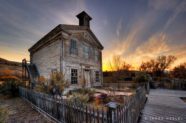old school house in Bannack, Montana