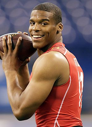 Cam Newton...If he and Gabby Douglas had babies, they would have the most beautiful smiles!  And they would be ridiculously sports gifted.  And most importantly, they would be brought up with good Christian values.  Cam, I just found you your future bride! :)