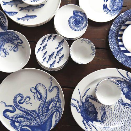 Caskata Blue & White Porcelain Dinnerware