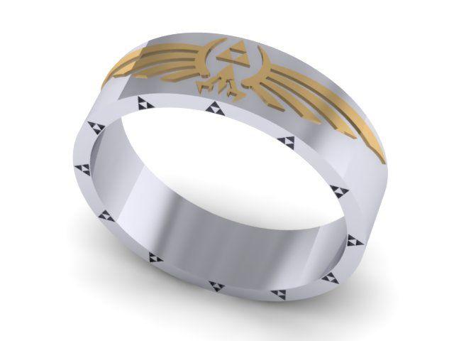 Custom Zelda Wedding Band By Takayas Custom Jewelry Really Cool