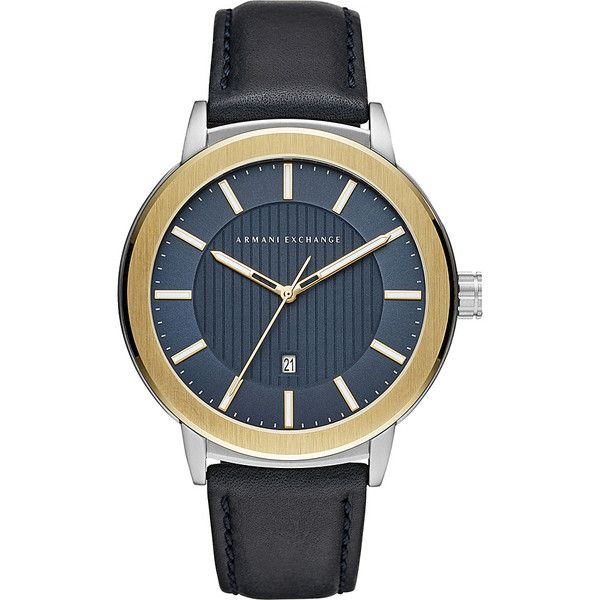 A/X Armani Exchange AIX Mens Watch - Blue - Men's Watches (10,450 INR) ❤ liked on Polyvore featuring men's fashion, men's jewelry, men's watches, blue, mens watches jewelry, mens blue watches, mens quartz watches, mens watches and mens water resistant watches