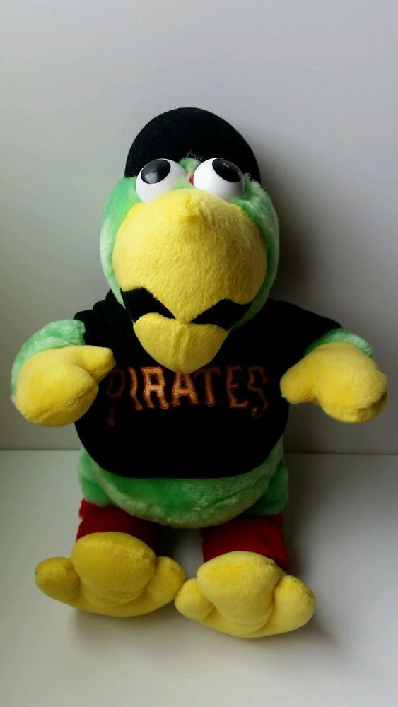 Pittsburgh Pirates Parrot Plush Stuffed Animal  Shirt Hat Cap Baseball Mascot #PittsburghPirates