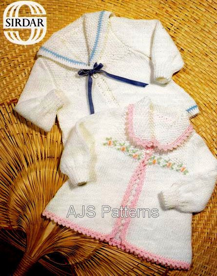PDF Knitting Pattern for Baby Jackets in 2 by TheKnittingSheep, £2.50