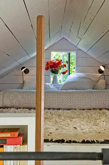 small loft with low bed