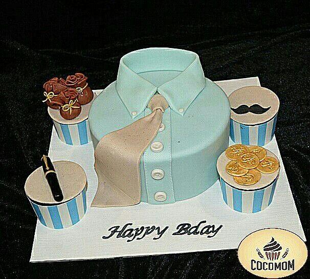 #Freshcream #cocomom #cake #chandigarh #mohali #panchkula #tricity #fondant #shirt #boss #office #colleague #banker