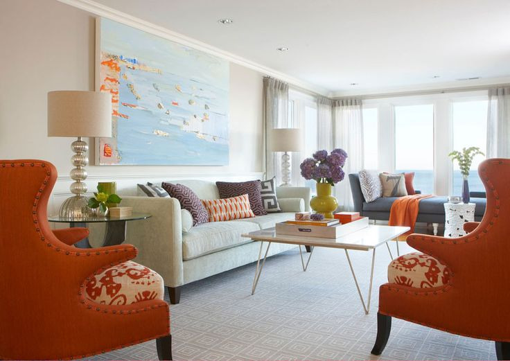 Improve Your Mood With Interior Design Orange Living RoomsEclectic RoomColourful