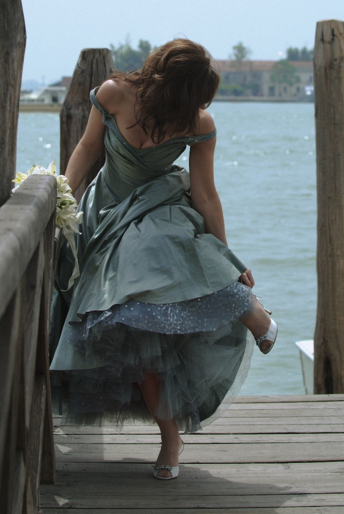 Peek of tulle.. Could so easily be Gina... Late again!