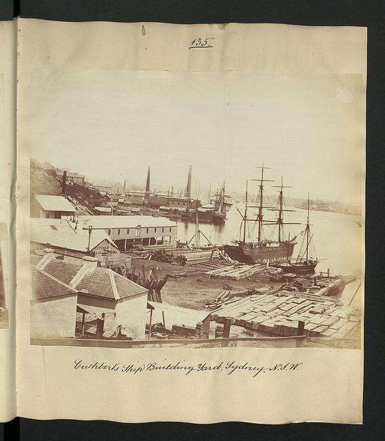 Culhbert's Ship Building Yard, Sydney, N.S.W. c1870 (The National Archives UK, via Flickr)