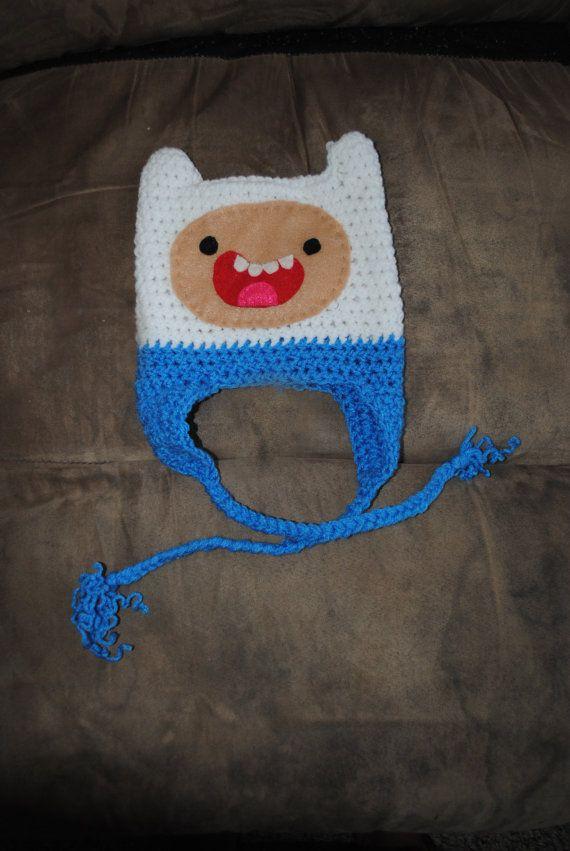 Small adventure time Finn hat crochet by KelisCloth on Etsy, $15.00