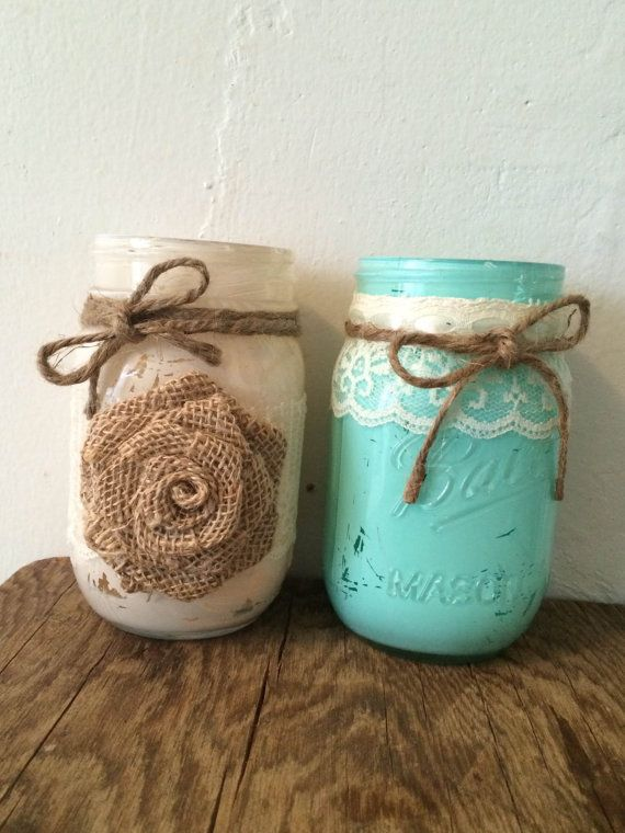 Hey, I found this really awesome Etsy listing at https://www.etsy.com/listing/218476977/set-of-20-painted-mason-jars-w-twine