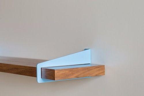Las 25 mejores ideas sobre mensulas para estantes en for Bar flotante de madera