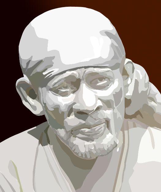 My Art Work... White Stone Sai Baba