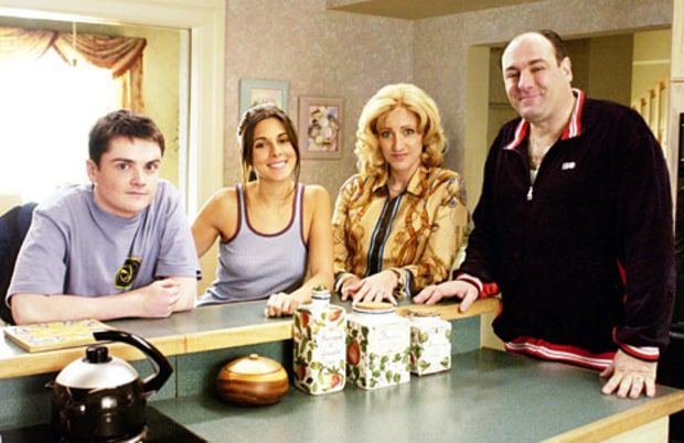 "Robert Iler, Jamie-Lynn Sigler, Edie Falco and James Gandolfini in ""The Sopranos"" HBO/Courtesy of Everett Collection"