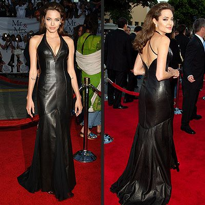 Only Angie can do a leather dress. Yowza!