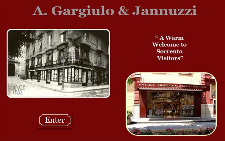 A. Gargiulo & Jannuzzi - inlaid wood, embroderies, laces - all of sorrento's fine arts