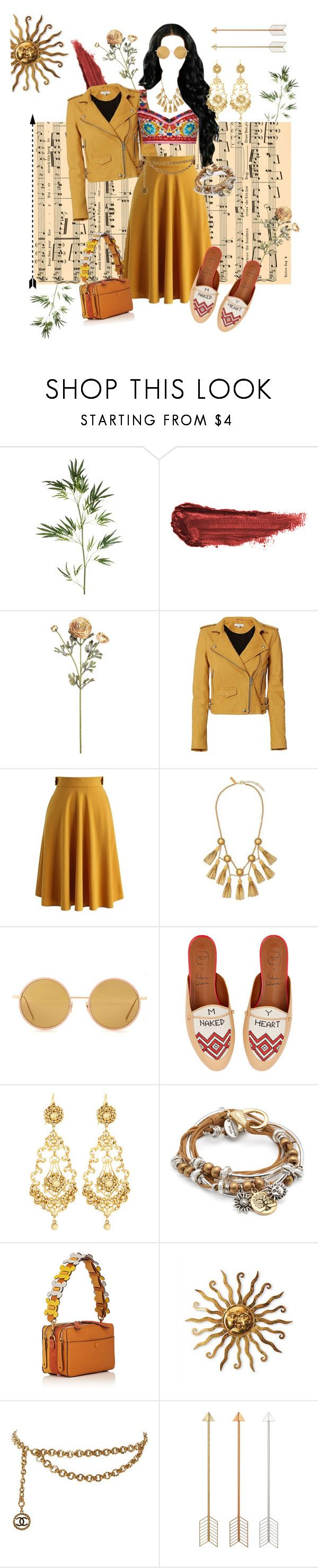 """""""Free spirited"""" by safia-moizuddin ❤ liked on Polyvore featuring Pier 1 Imports, By Terry, IRO, Chicwish, Rachel Zoe, Dolce&Gabbana, Acne Studios, Malone Souliers, Jose & Maria Barrera and Lizzy James"""