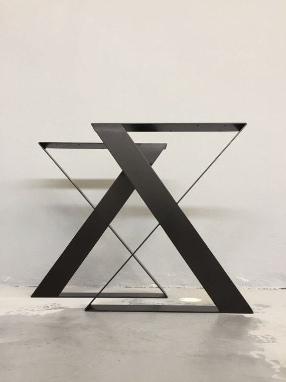 Steel Dining Table Legs 28 H X 24 W Wide Flat Steel Table Legs