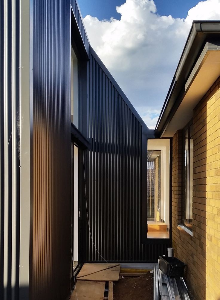 Binary House / Christopher Polly Architect / Stage 2 New Addition - Exterior Link progress