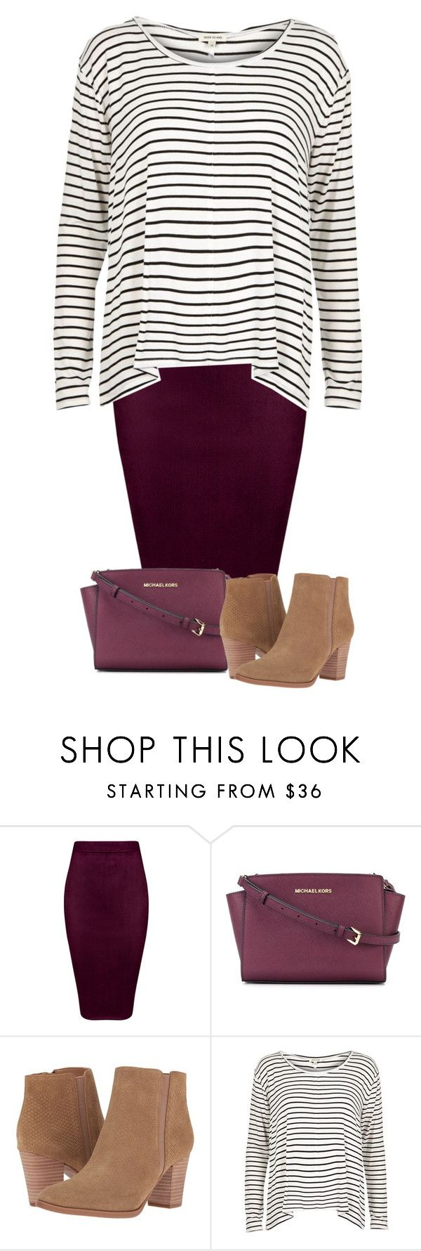 """Untitled #379"" by miagracerobinson ❤ liked on Polyvore featuring MICHAEL Michael Kors, Franco Sarto and River Island"