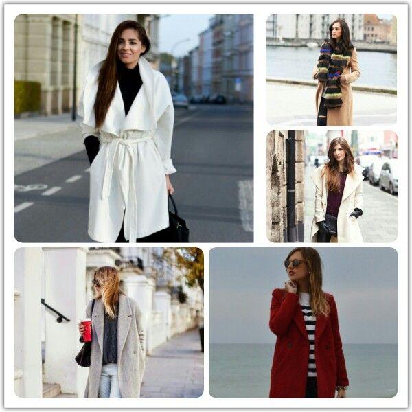 Milyen kabátokat viselnek idén télen a külföldi divatbloggerek? #fashion #outfit #blogger #winter