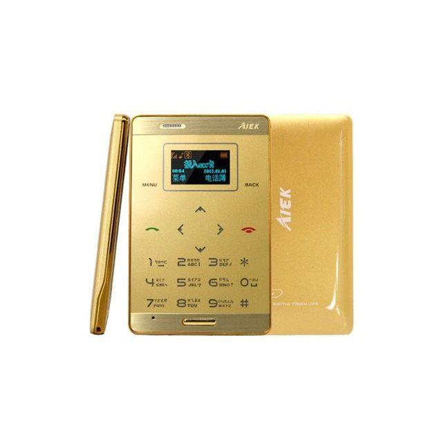 Mini téléphone portable débloqué format carte bleue mobile or Yonis