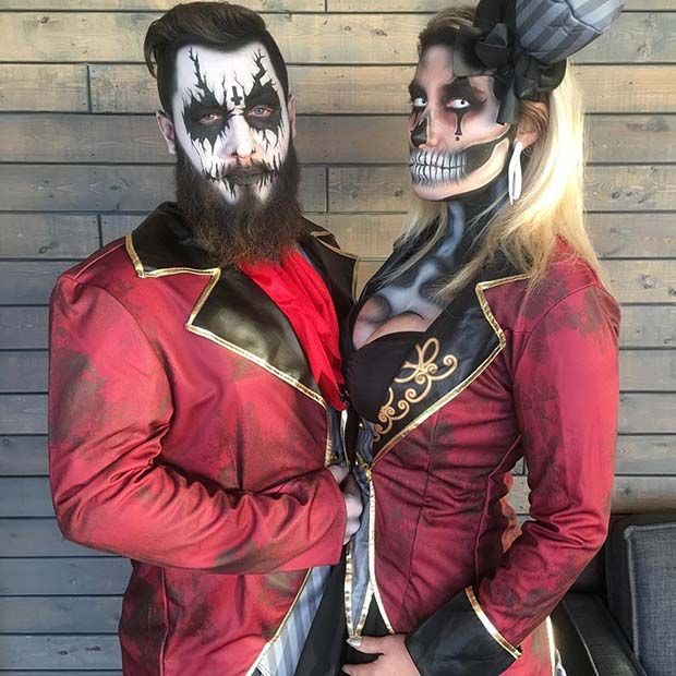 Dark Circus Ringmasters - Couples Halloween Costume Idea