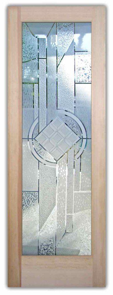Etched Glass Front Door - Glass Entry Door - Matrix Chardonnay 3D