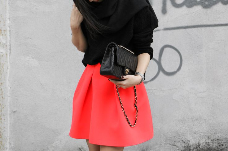 COS Top, Kenzo Skirt, Chanel Bag | Egg Canvas