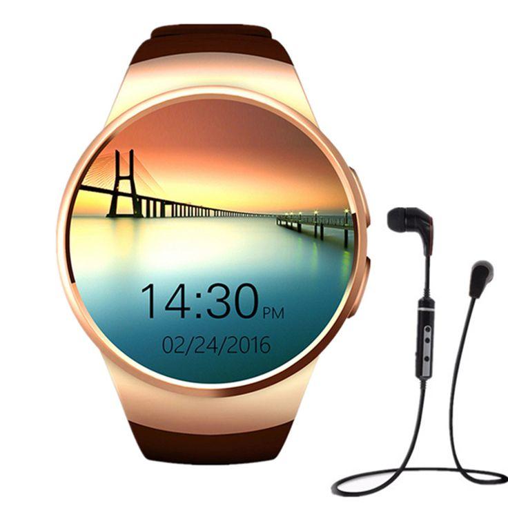 KW18 SiM Smart Uhr unterstützung GSM Pulsmesser NFC SmartWatch für apple samsung getriebe S2 huawei + bluetooth sport kopfhörer //Price: $US $56.99 & FREE Shipping //     #meinesmartuhrende