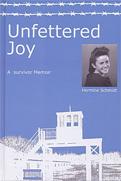 """Because of her religious beliefs as one of Jehovah's Witnesses. After a harrowing ""trial"" before a Nazi judge, Hermine is sent to the Stutthof concentration camp, where she endures and witnesses unspeakable horrors."" Author, Hermine Schmidt, 2005"