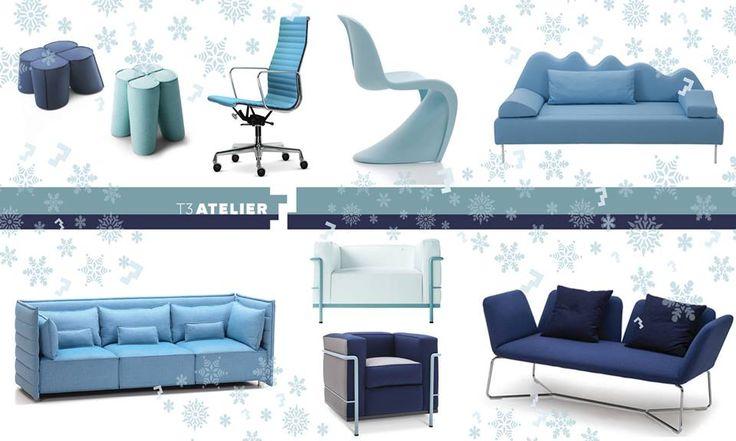Mimo, że za oknem nie widać śniegu, u nas meble w mroźnej, niebieskiej kolorystyce. T3 czeka na Święta z białym puchem!