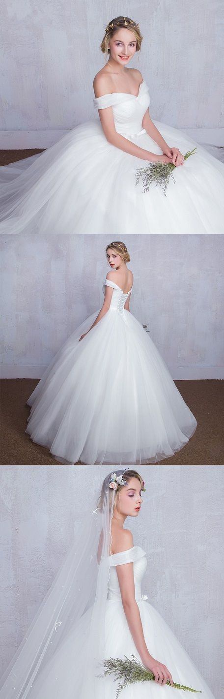"""Loving how this ball gown wedding dress cover the upper arms. Nice match with the sweetheart neckline! Would this be the one for your big day? Click for more details and remember to use coupon code """"PTL20531"""" for an extra discount when you spend $100+"""