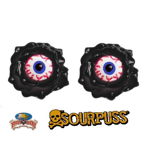 Are you ready for your eyes to pop out of your head!? These shocking & sinister Eyeball Corsage stud earrings from Sourpuss will have you buggin' out for sure!